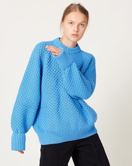 Kowtow Pioneer Crew sweater - Blue