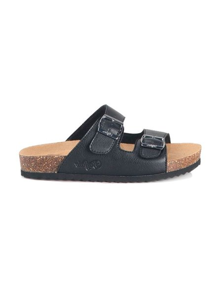 BUFFALO SANDALS ROSMARY Slippers - Black/Brown