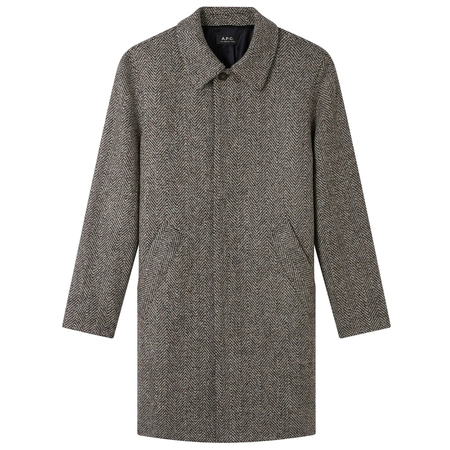 A.P.C. manteau ivan Anthracite Chine Coat - Grey