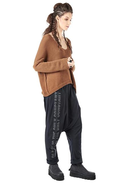 Studio B3 Openno Oversized Slouchy Knit Pullover - CARAMEL
