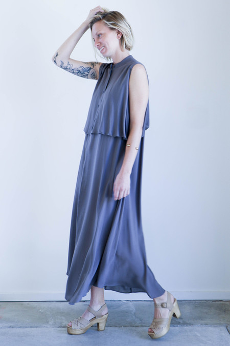 7115 By Szeki Sleeveless Layered Dress - Stone
