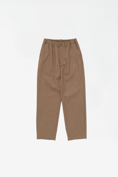 Still By Hand Washed melton pants - camel