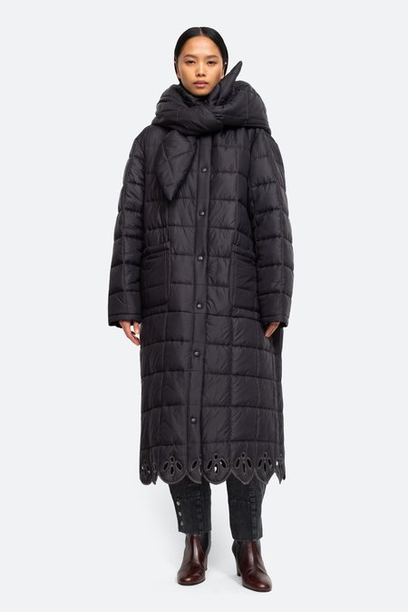 Sea NYC Wren Quilted Coat - black