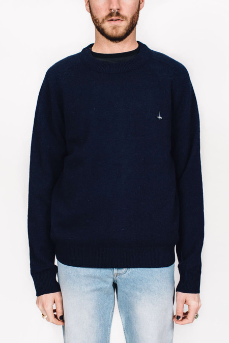 Men's Velour by Nostalgi Ruth Sweater Navy