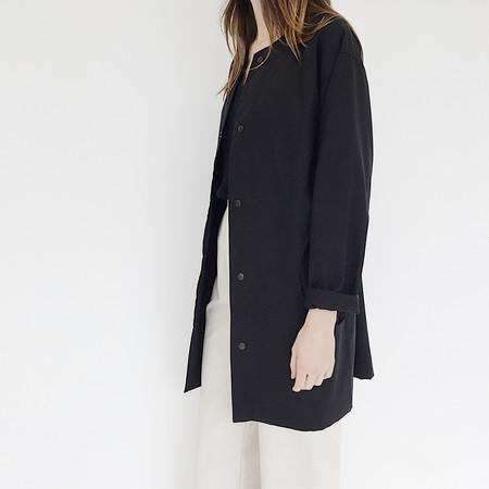 Unisex Johan FAAN Long Snap Jacket - Black