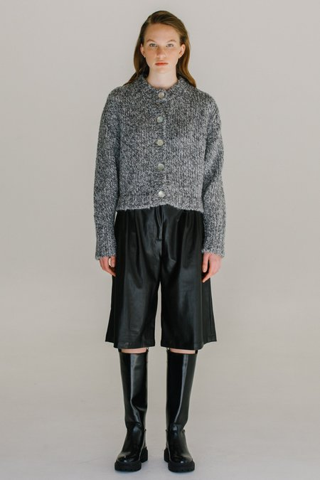 Mijeong Park Melange Knit Cardigan - Gray