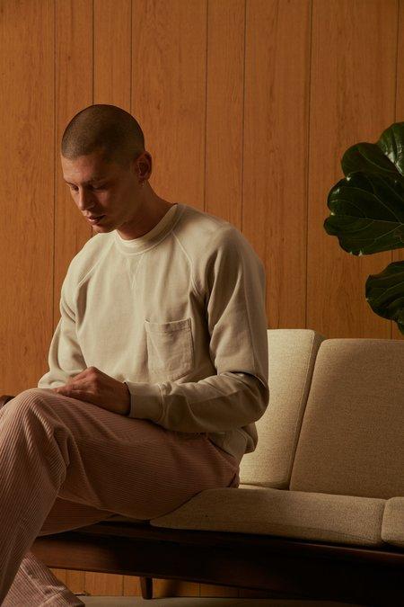 Officine Generale Chris Crewneck Pigment Dye Fleece Sweatshirt - Burnt Sand