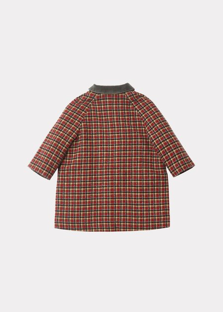 Kids Caramel Chee Coat - Red Check