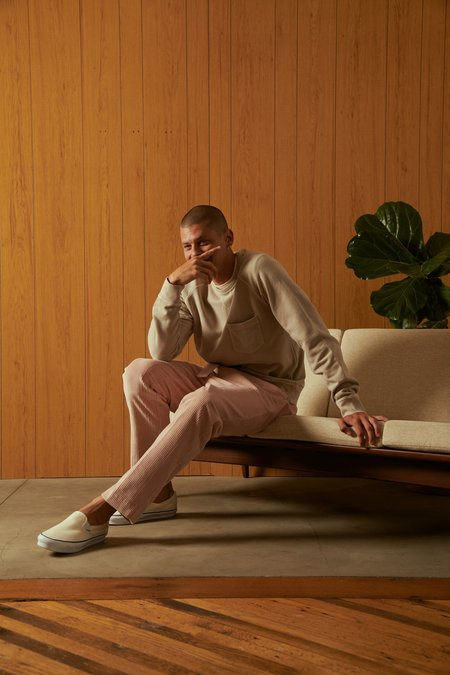 Officine Generale Mory Pleated Cotton Corduroy Trousers - Misty Pink