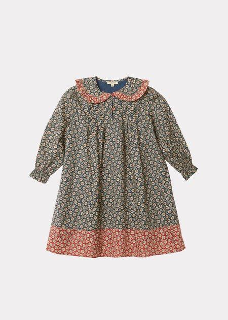Kids Caramel Mercury Dress - Navy Flower