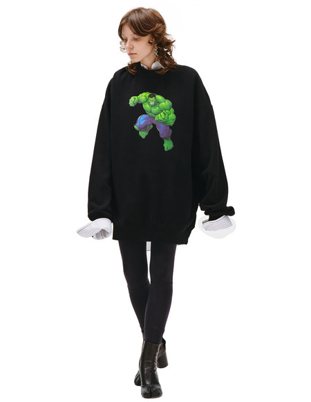 Balenciaga Balenciaga Ñ Marvel Printed Sweatshirt - Black