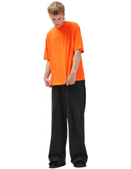 Balenciaga T-shirt with embroidered logo - Orange