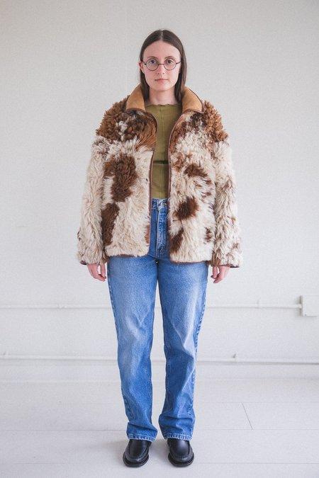 Cawley Studio Avis Sheepskin Jacket - Cow Print