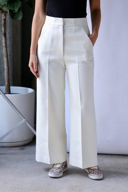 Smythe Wide Leg Culotte - Ivory Twill