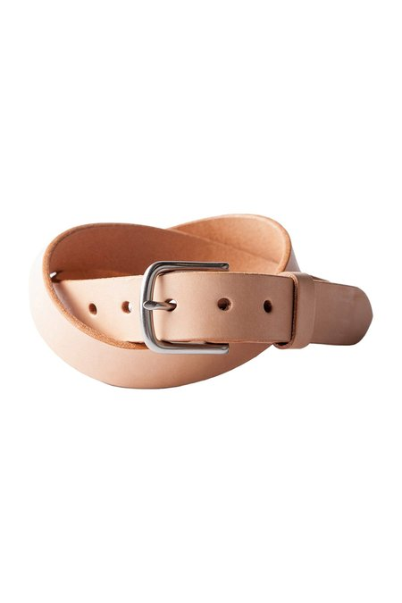 Tanner Goods Classic Belt - Natural/Stainless