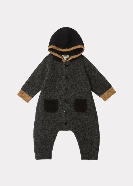 KIDS Caramel Odell Baby Romper - Black/Camel