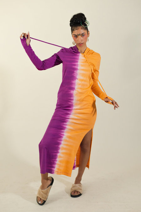 Abacaxi Hoodie Maxi Dress
