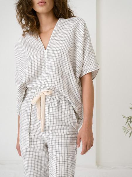 LAUDE the Label Vianca Tunic - Natural Checker