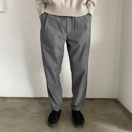 Still By Hand Deep tuck easy pants - slate grey