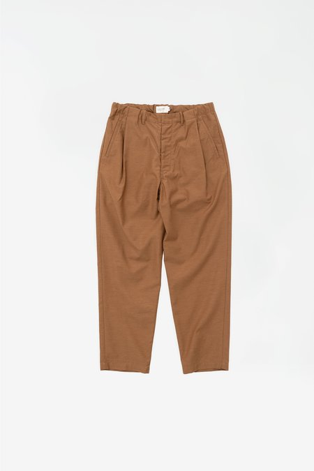 Still By Hand Deep tuck easy pants - umber