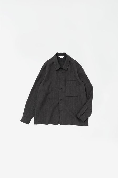 Still By Hand Flap pocket relaxed shirt - charcoal