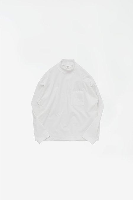 Still By Hand High neck long sleeve T-shirt - white