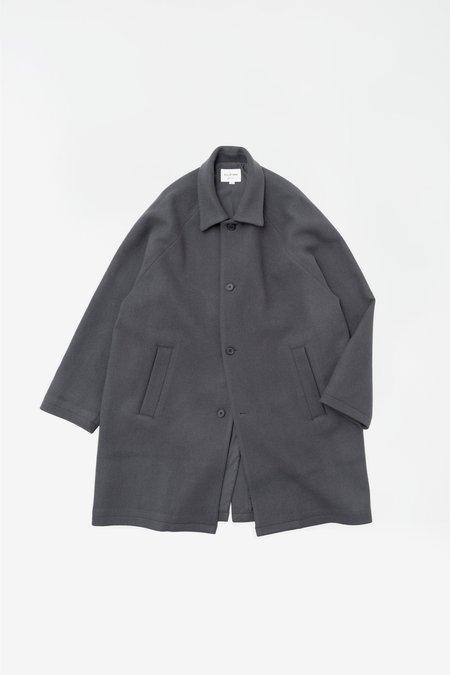 Still By Hand Oversized ball collar coat - slate grey