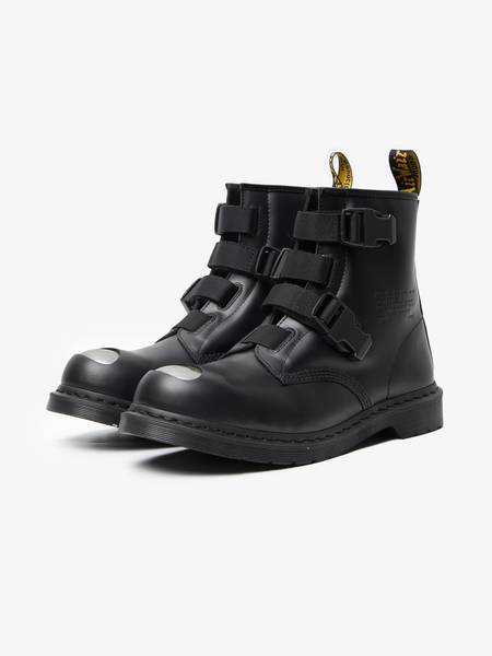[Pre loved] Wtaps X Dr. Martens Strap Leather Boots - Black