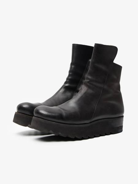 PRE-LOVED Boris Bidjan Saberi Women Massive Sole Leather Shoes - Black