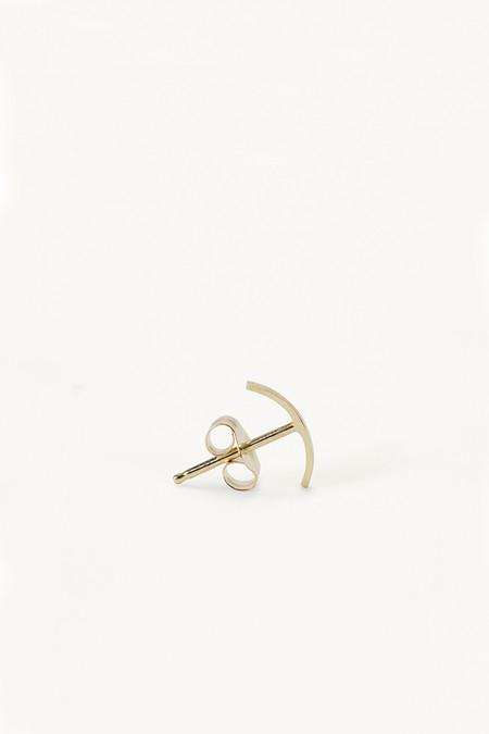 Kathleen Whitaker Stitch Stud Earrings - Gold