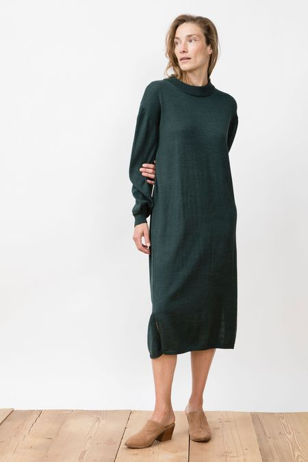 Jungle Folk Knit Genevieve Dress - Forrest Green