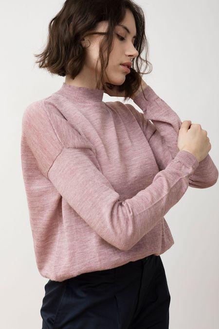 Jungle Folk Knit Sweater - Arvo Himalaya Pink