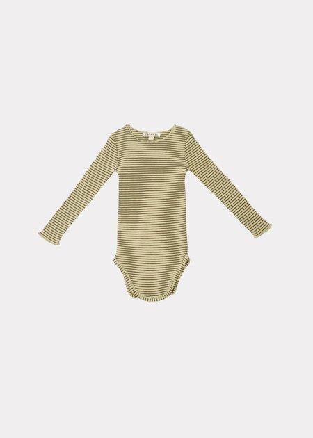 KIDS CARAMEL Hanau Baby Romper - Lemon/Chocolate Stripe