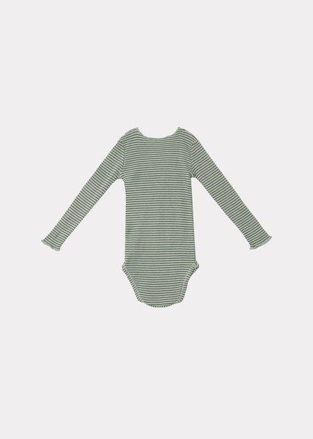 KIDS CARAMEL Hanau Baby Romper - Mint/Chocolate Stripe