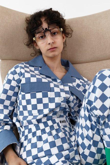 Foli Moody Dusk Loungewear Set - Murky blue