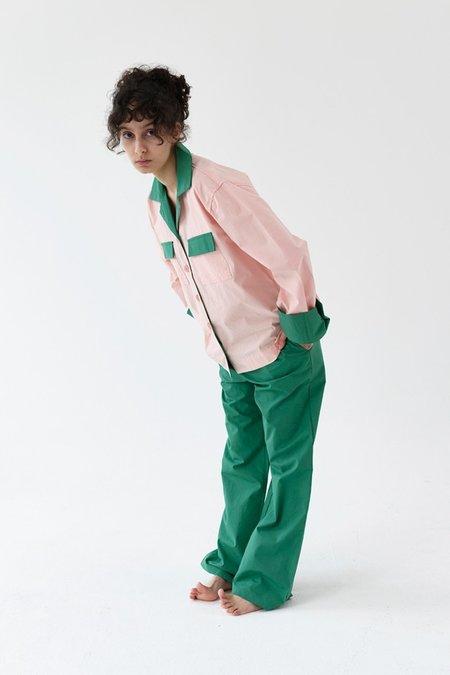 Foli Water Mellow Loungewear Set - Pink/Dark Green
