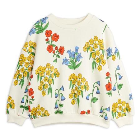 kids mini rodini snow flowers aop sweatshirt - off white