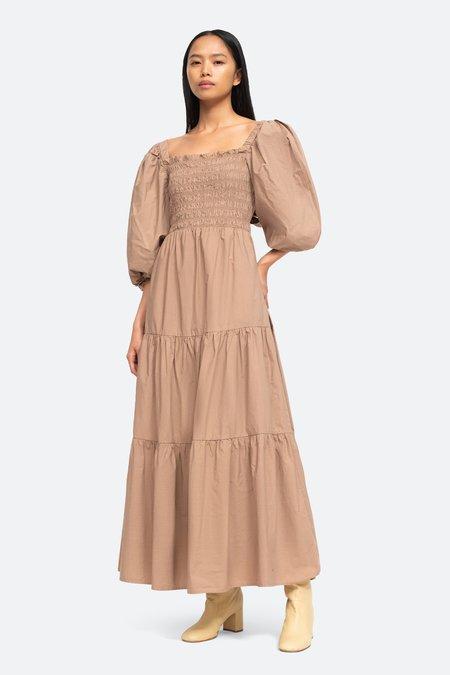 Sea NY Claudine Smocked Dress - Chino