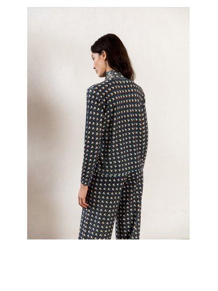 sita murt Printed Turtleneck Sweater