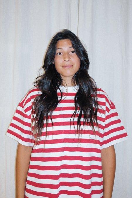 Kowtow Tee Dress - red/white