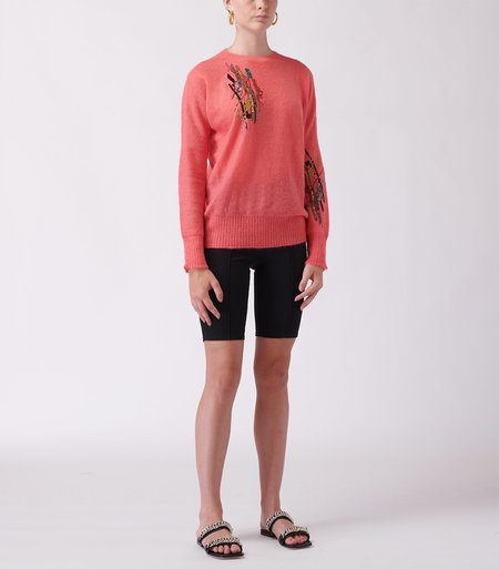 Christopher Kane Squiggle Sequin Sweater