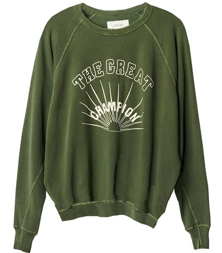 The Great. The College Sweatshirt With Champion Graphic - Olive