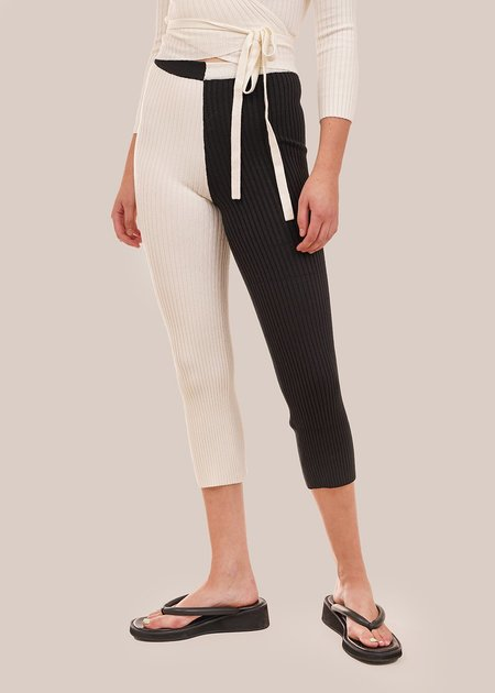 Yin Yang Nonna Pants - Onyx/Ivory