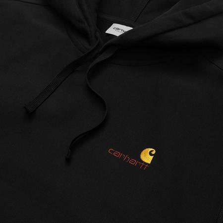 CARHARTT WIP Hooded American Script Sweatshirt - Black