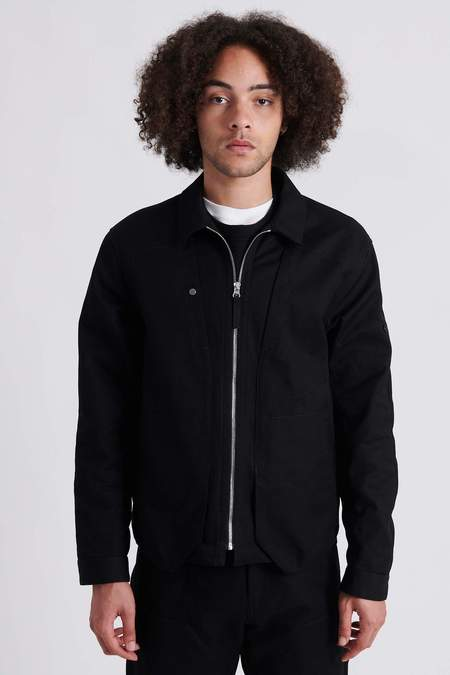 Stone Island 10409 Shadow Project Chapter 1 Textured Cotton Overshirt - Black