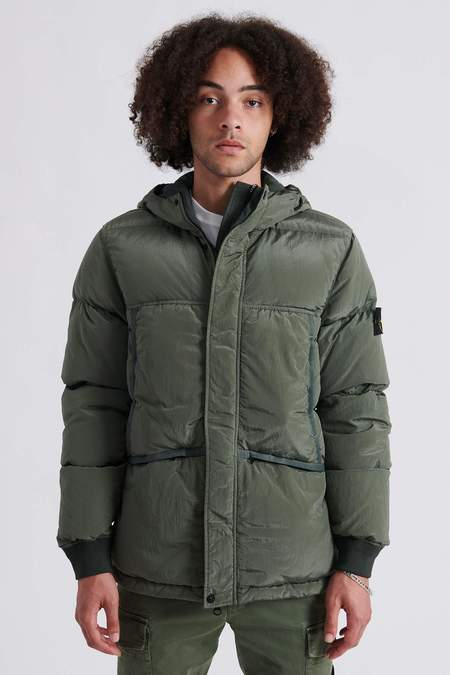 Stone Island 44508 Nylon Metal Down-TC Hooded Jacket - Sage