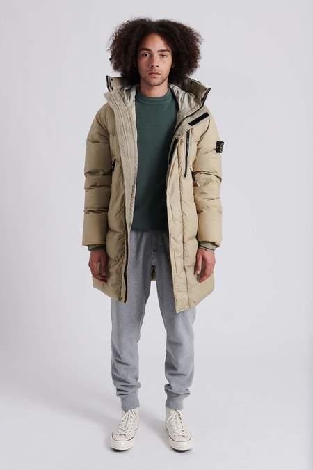 Stone Island Garment Dyed Crinkle Reps Nylon Down Coat - Beige