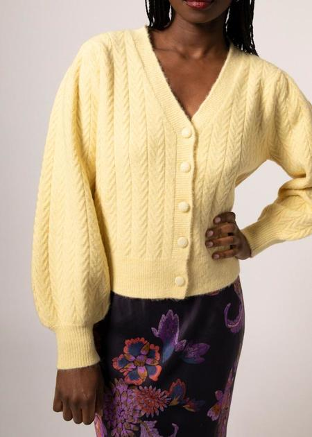 Mabel and Moss Lily Button Down Cardigan - Yellow