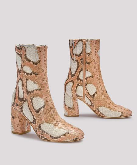 Miista Pink Snake Adrianne Boot