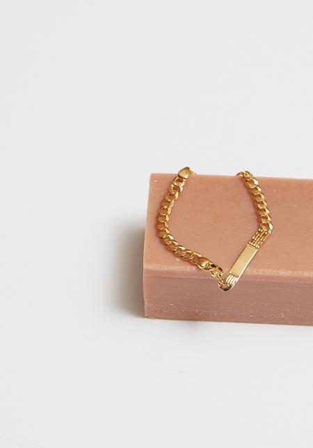 Maria Black Squad Bracelet - Gold